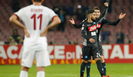 Napoli 2 - 1 AC Milan: Napoli go four points clear of Juventus at Serie A summit