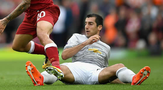 Mourinho slams Mkhitaryan for disappearing during Manchester United games