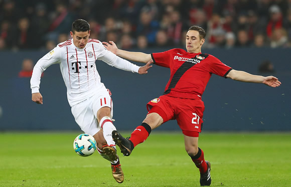 Bayer Leverkusen 1 - 3 Bayern Munich: Bayern triumph in Leverkusen to pull further clear in the Bundesliga
