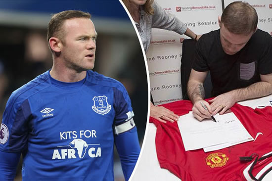 Everton star Wayne Rooney takes on CRIME as signature busts criminal