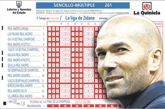 Zidane wants to end the season with a perfect 15