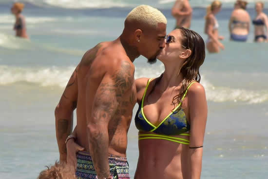 Kevin-Prince Boateng enjoys summer break with stunning wife during beach holiday