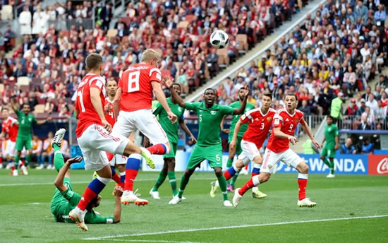Russia 5 - 0 Saudi Arabia: Rampant Russia blitz Saudi Arabia to give the World Cup hosts a dream start