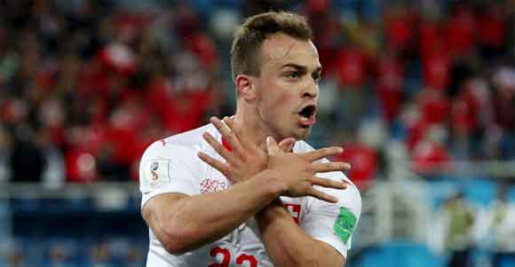 Serbia 1 Switzerland 2: Shaqiri strikes late to clinch crucial comeback victory