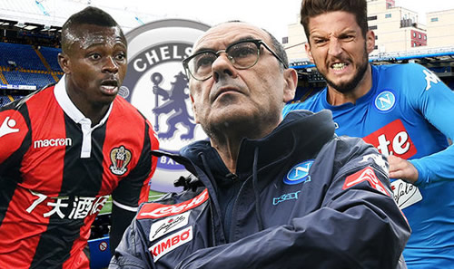 Maurizio Sarri prepares £140m transfer wishlist for Chelsea spending spree