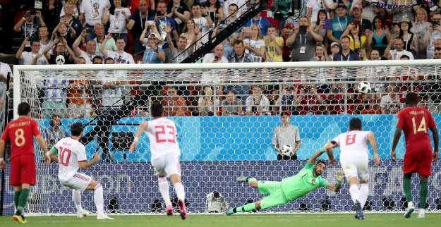 Iran 1 Portugal 1: Santos' men survive late Saransk scare after Ronaldo penalty miss