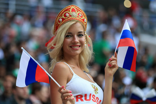 Russia's hottest World Cup fan claims she is NOT a porn star and victim of 'revenge video'