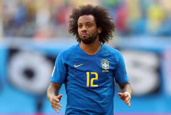 Brazil's Marcelo a doubt for Mexico match, Douglas Costa ruled out