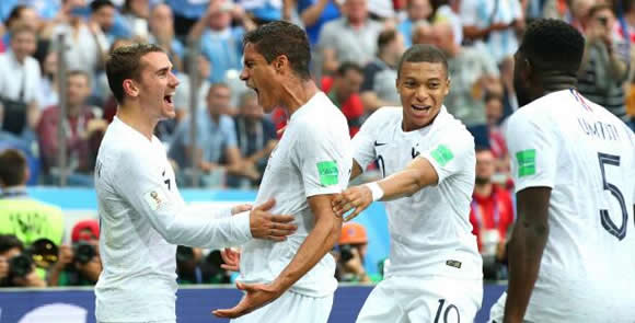 Uruguay 0 France 2: Varane and Griezmann send Les Bleus through