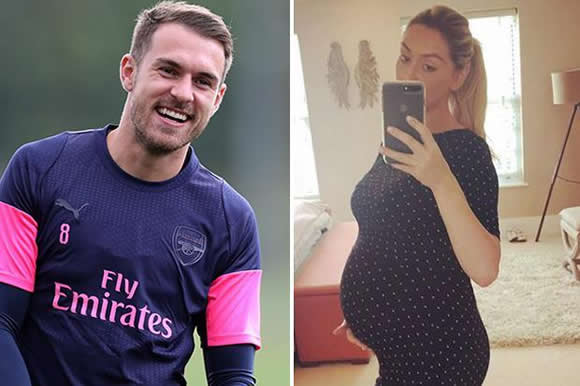 Aaron Ramsey will miss Arsenal's clash with Qarabag to be with pregnant wife