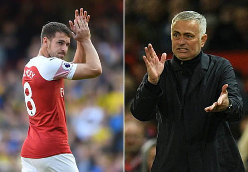 Red Devils to join race for out of contract Arsenal star Aaron Ramsey