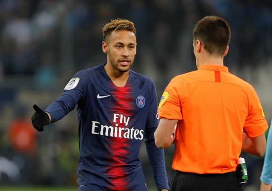PSG ace Neymar targeted by Marseille fans with bottles and coins thrown at Brazil international in shameful scenes