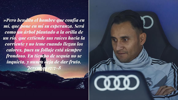 Keylor Navas on Instagram: Blessed is the man who trusts me...