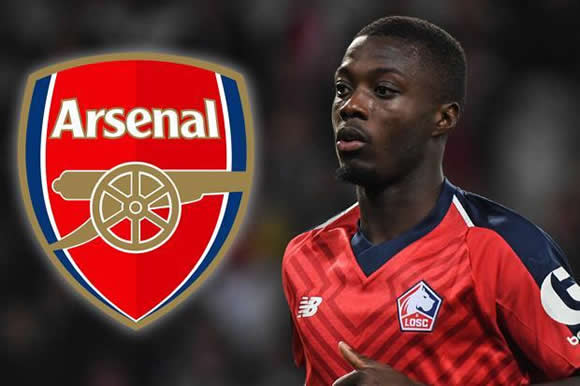 Arsenal target Nicolas Pepe hints he is ready to leave Lille as Unai Emery eyes £44million move
