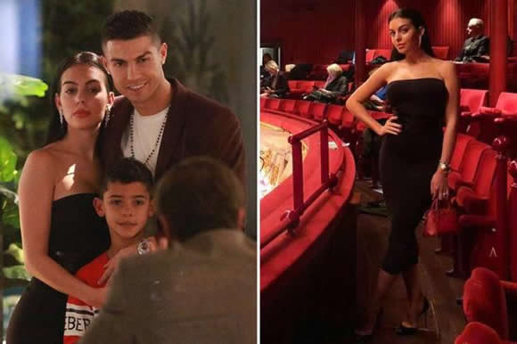 Cristiano Ronaldo treats Georgina Rodriguez and Cristiano Jnr to a meal at his London restaurant and a night at the opera