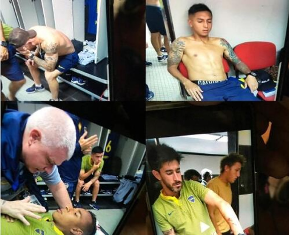 Footage From Inside Boca Juniors' Dressing Room Is Very Distressing