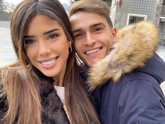 LONDON CALLING? Denis Suarez and girlfriend Nadia Aviles could be heading to London with Chelsea and Arsenal in hot pursuit