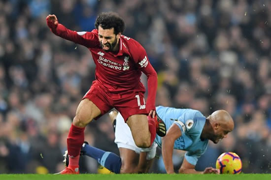 Klopp RAGES after Kompany escapes red for Salah lunge as Man City cut gap to Liverpool