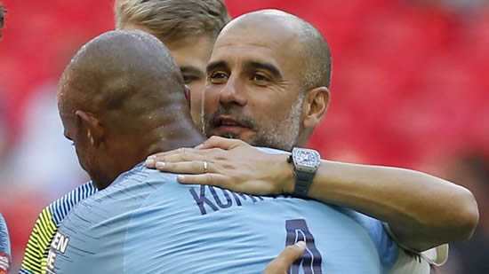 Pep Guardiola hopes 'incredible' Vincent Kompany will stay at Manchester City