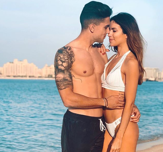 Real Betis star Marc Bartra's wife Melissa Jimenez is a sports journalist who loves MotoGP