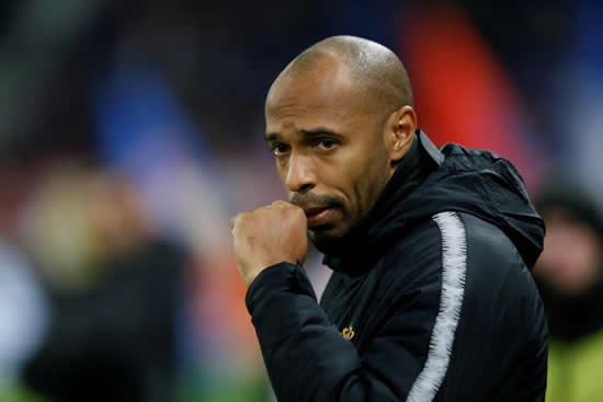 VA VA DOOM Thierry Henry on brink of being sacked as Monaco suspend his duties as first-team coach