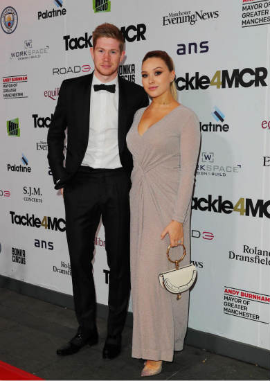 Man City stars De Bruyne, Walker and Ederson joined by stunning Wags on red carpet for Kompany's charity dinner