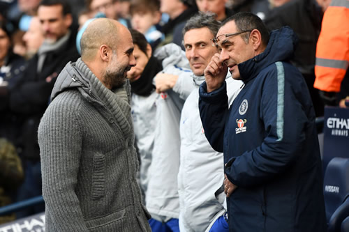 Guardiola explains Sarri's non-handshake after City humiliate Chelsea