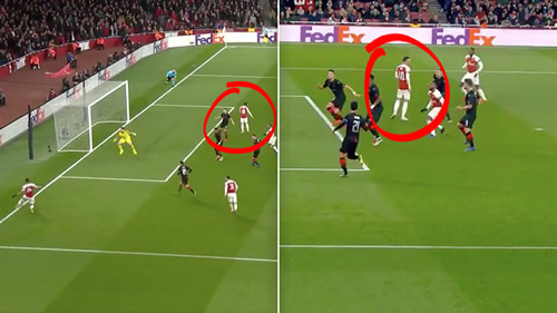 Mesut Ozil wasn't even watching when Arsenal scored their second goal