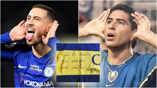 Hazard-Riquelme connection: Admiration, celebrations and a gifted shirt