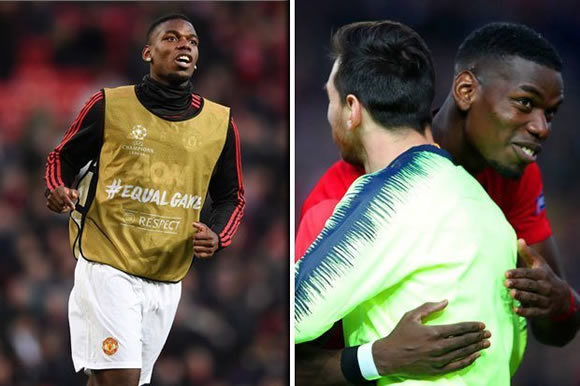 Man Utd fans FURIOUS with Paul Pogba after Lionel Messi hug - is star off to Barcelona?