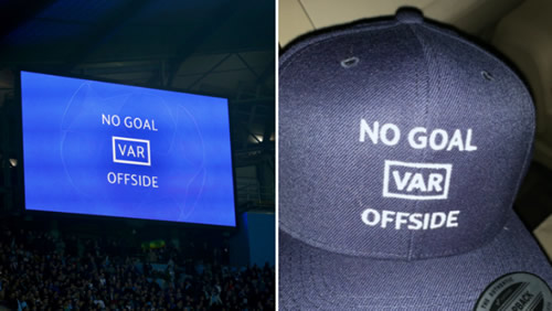 Spurs Fan Creates Cap Celebrating VAR Offside Decision