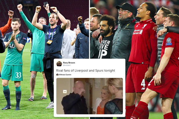 Conflicted Arsenal and Man Utd fans don't know what to do as Spurs and Liverpool reach Champions League final