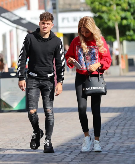 Loved-up Man Utd star Daniel James enjoys time out with girlfriend Ria Kate Hughes after impressing in pre-season