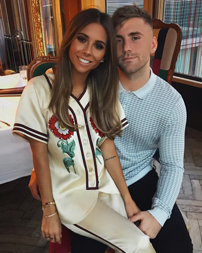 Luke Shaw's stunning girlfriend Anouska Santos shows off huge baby bump as Man Utd star and Wag prepare to welcome first child