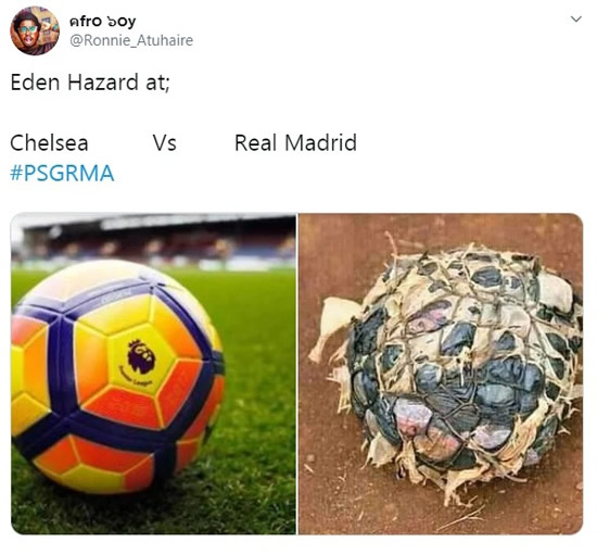 Fans destroy Eden Hazard in hilarious memes comparing Real Madrid vs Chelsea versions
