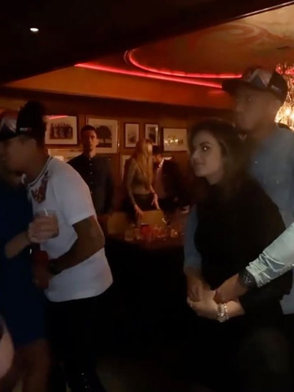 Liverpool stars Firmino and Fabinho filmed dancing with hot wives in swanky bar