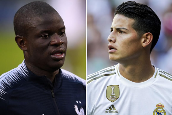 Real to offer Chelsea £86m plus Rodriguez for Kante in huge transfer deal after missing out on Pogba