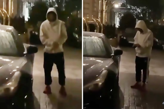 Neymar unable to open his Ferrari after dinner date