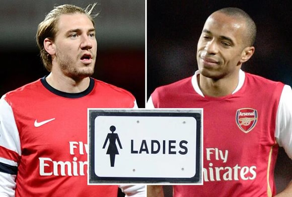 Nicklas Bendtner hid in ladies toilets to avoid lessons and told Thierry Henry to 'shut up' at Arsenal