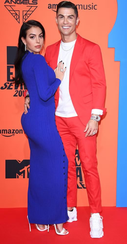 Cristiano Ronaldo and Girlfriend Georgina Rodriguez Look Electrifying at the MTV Europe Music Awards