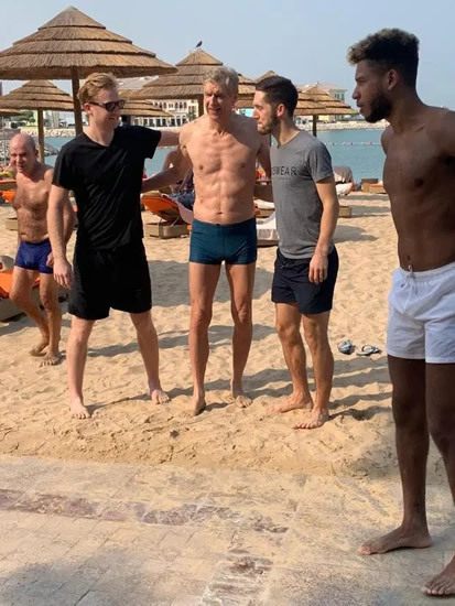 Ripped Arsene Wenger, 70, shows off six-pack on Dubai beach ahead of Bayern Munich talks