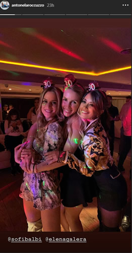 Barcelona Wags including Messi's wife Antonella celebrate as Luis Suarez throws huge 30th bash for beloved Sofia Balbi