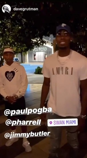 MIAMI NICE Man Utd star Paul Pogba hangs out with Pharrell Williams and NBA star Jimmy Butler in Miami as he fights back to fitness