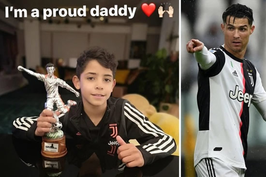 Cristiano Ronaldo Jr, 9, makes Juventus star dad proud with award for best striker at youth tournament
