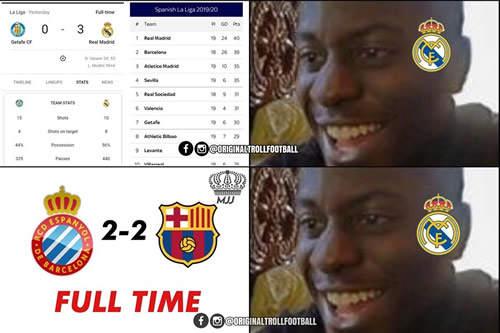 7M Daily Laugh - Madrid fans last night