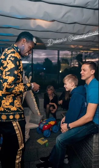 Pogba posts pre-surgery video after partying with Man Utd pals at lavish Versace 1st birthday bash for son Labile Shakur