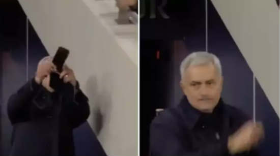 Jose Mourinho's Attempt At Taking A Selfie With A Fan Didn't Go Well