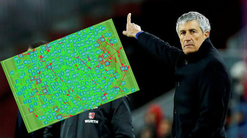 Setien recorded Barcelona's third highest pass rate since the Guardiola era