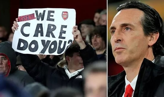 Unai Emery blames Arsenal fans for getting sacked and names four problems at club