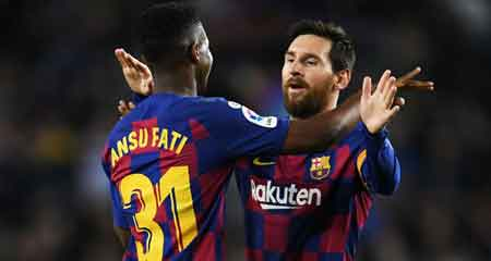 Barcelona 2-1 Levante: Landmark brace from Fati enough for shaky champions